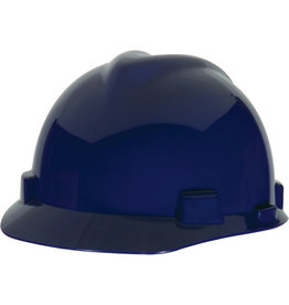 MSA V-Gard Hard Hat, CSA Type I, Ratchet, Navy