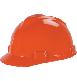 MSA V-Gard Hard Hat, CSA Type I, Ratchet, Orange