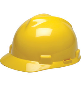 MSA V-Gard Hard Hat, CSA Type I, Ratchet, Yellow