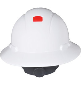 3M Full Brim Hard Hat w/Unicator Sensor, Ratchet, CSA Type I - White