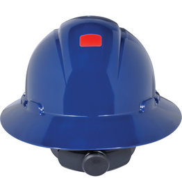 3M Full Brim Hard Hat w/Unicator Sensor, Ratchet, CSA Type I - Blue