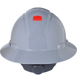 3M Full Brim Hard Hat w/Unicator Sensor, Ratchet, CSA Type I - Grey