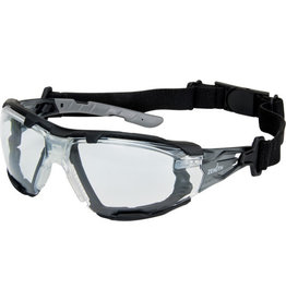 Zenith Safety Glasses w/Gasket, Headstrap, Clear, A/F