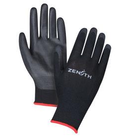 Zenith Polyurethane Palm Coated Glove - Black, L