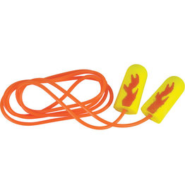 3M E-A-R Soft Yellow Neons Earplugs, Corded, 200/PK