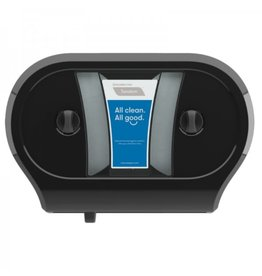 Cascade Twin Tissue Dispenser, Black