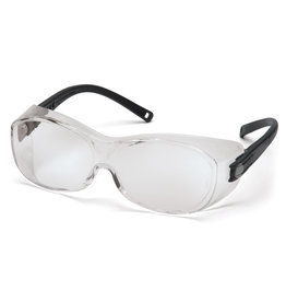 Pyramex OTG Safety Glasses, Anti-Scratch/Fog, CSA