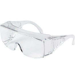 Crews XL OTG Safety Glasses, Uncoated