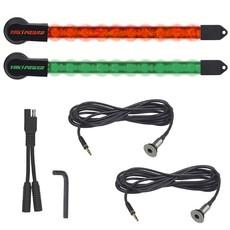 Yak-Power  2pc LED light Kit -Red/Green (10in)