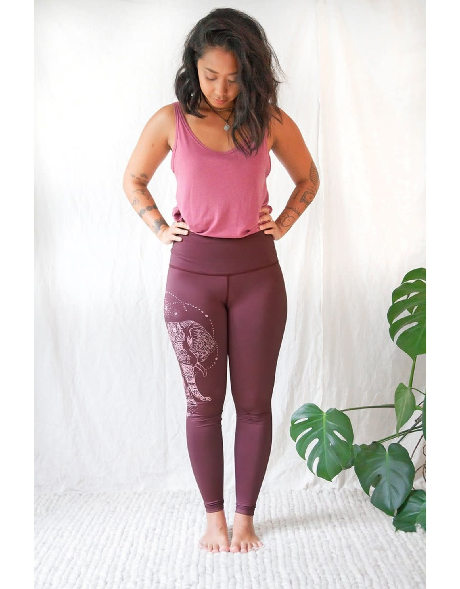 Rose Buddha Elephant leggings