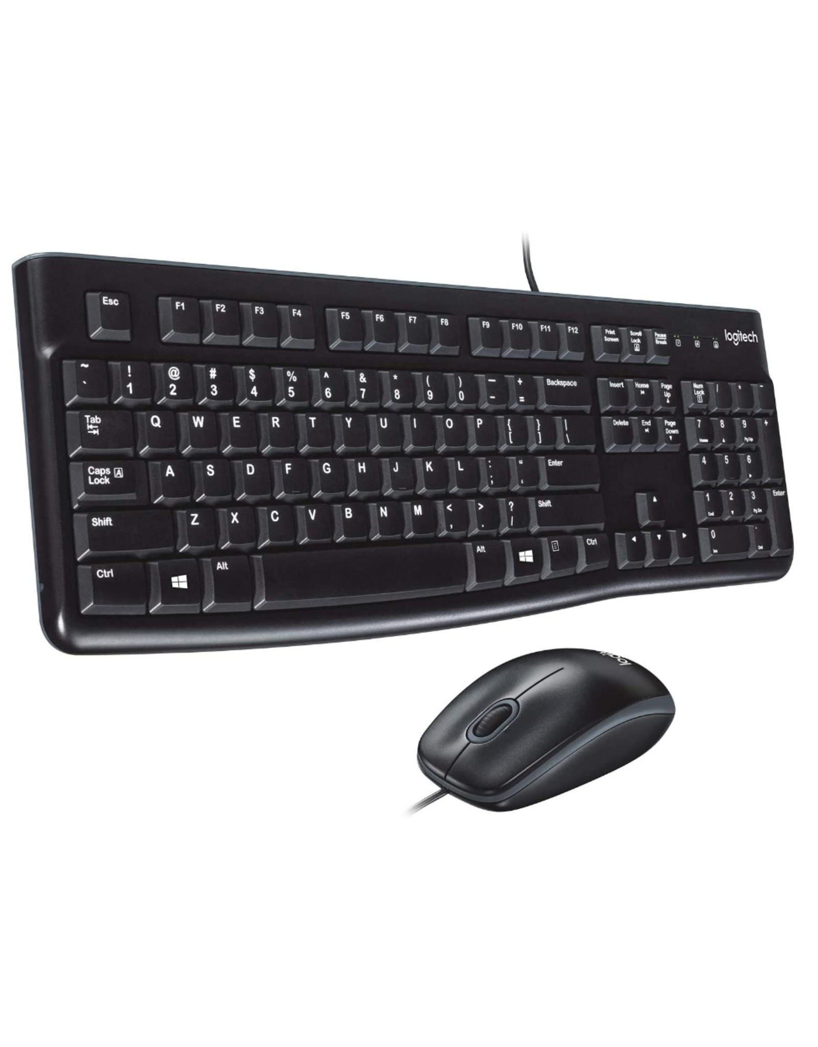 Logitech Logitech MK120 Desktop Keyboard and Mouse Combo USB - Black