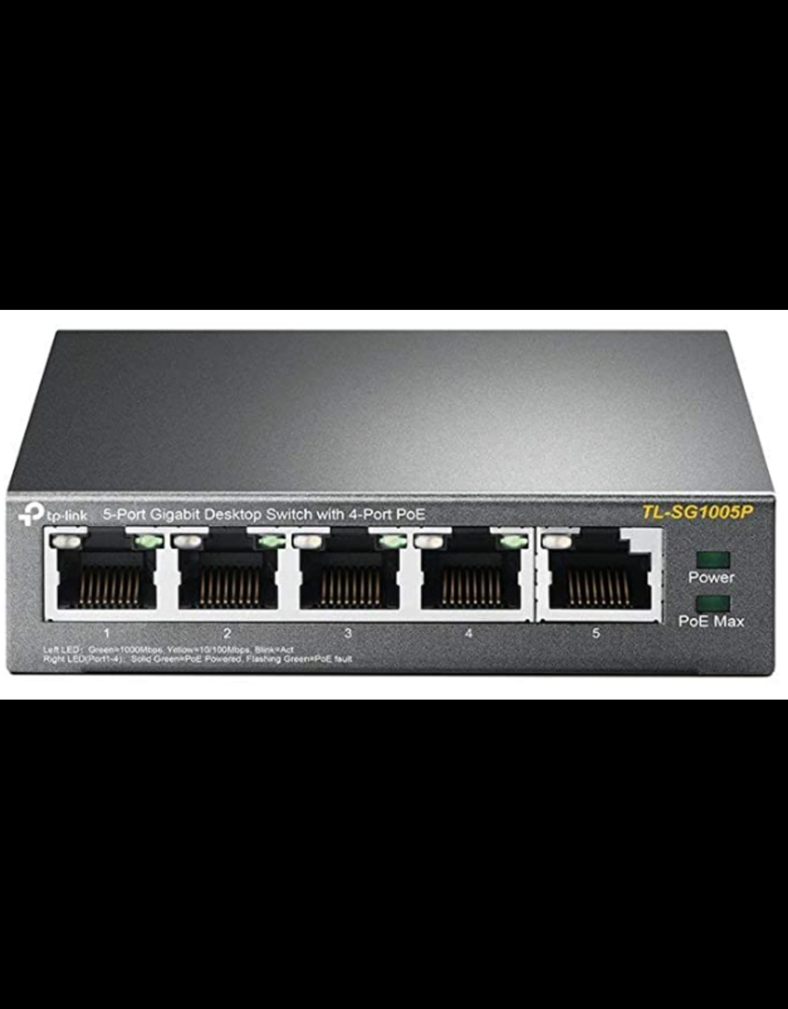 TP-Link TP-Link TL-SG1005P 5-Port Gigabit Desktop Switch with 4-Port PoE