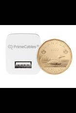 5W Universal USB Single Port Wall Charger, Foldable Plug, 5V 1A, White