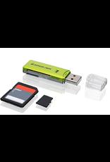 IOGEAR IOGEAR SD/MicroSD/MMC Card Reader/Writer GFR204SD - card reader - Hi-Speed