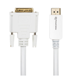 DisplayPort 1.2V to DVI-D Dual link 28AWG Cable 10Ft - White