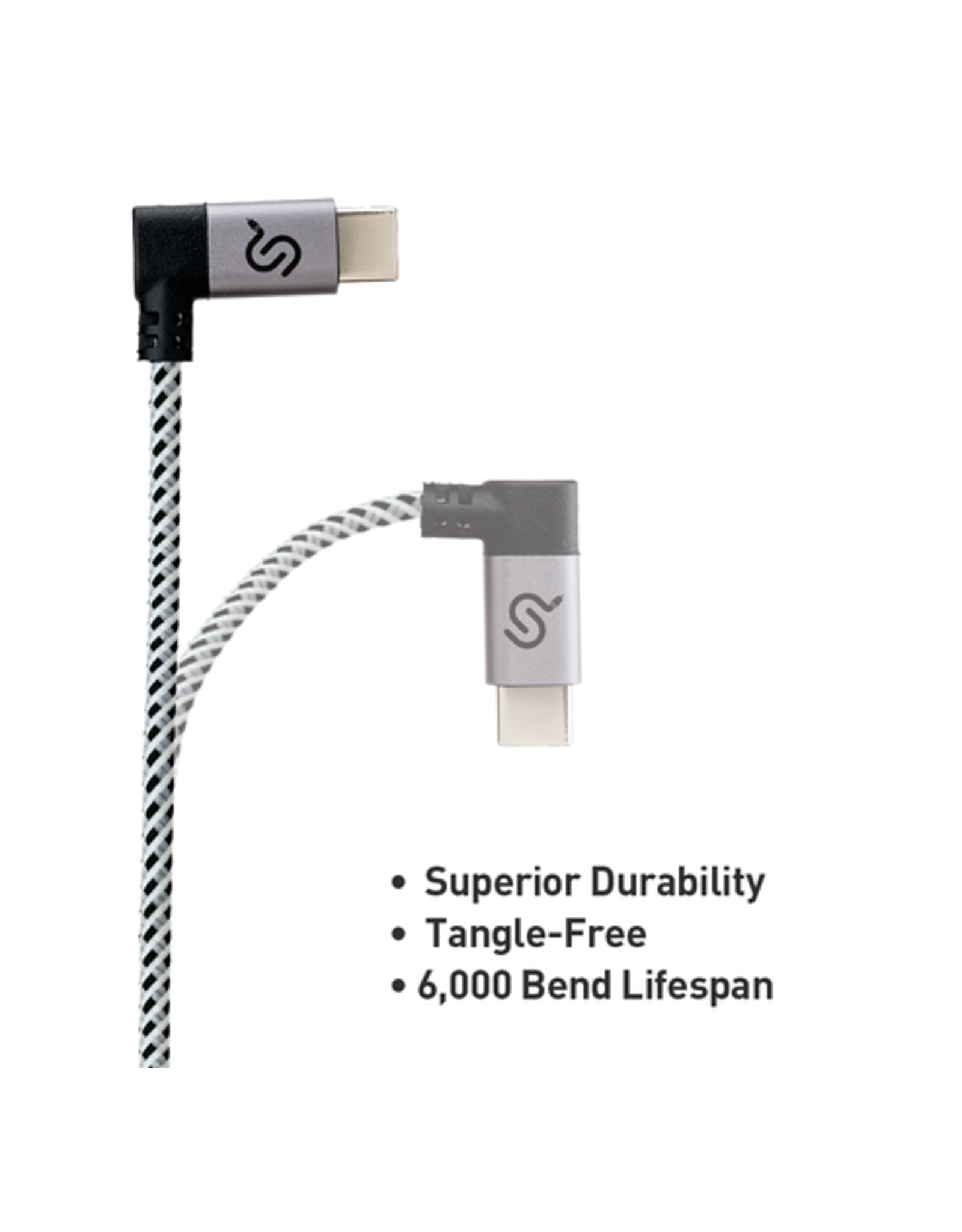 USB C Cable Right Angle 90 Degree Nylon Braided USB Type C Cable Fast Charging Cord