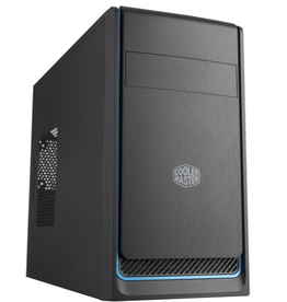 CoolerMaster Cooler Master MasterBox E300L mATX Tower w/Front Brushed Panel, Blue Accent Trim and Side Ventilation Vent