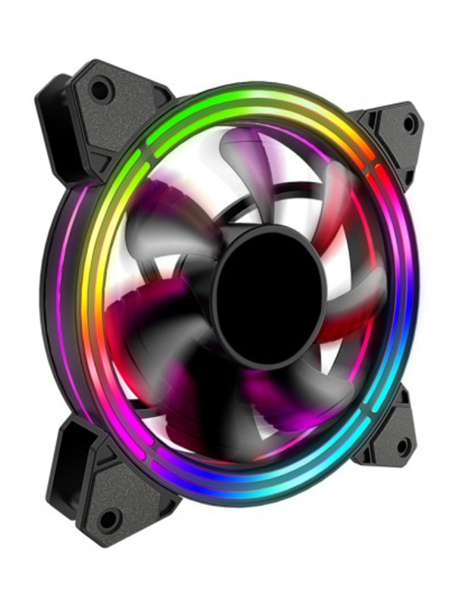120mmX120mm (12cmX12cm) Multi-color LED Light Fan (Case)