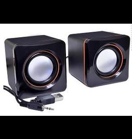 USB Red Line Cube Speaker
