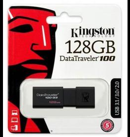 Kingston Kingston DataTraveler 100 G3 128GB USB 3.0 Flash Drive