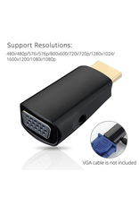 PrimeCables HDMI 1.4 Male to VGA Female with 3.5mm Audio Adapter- Black