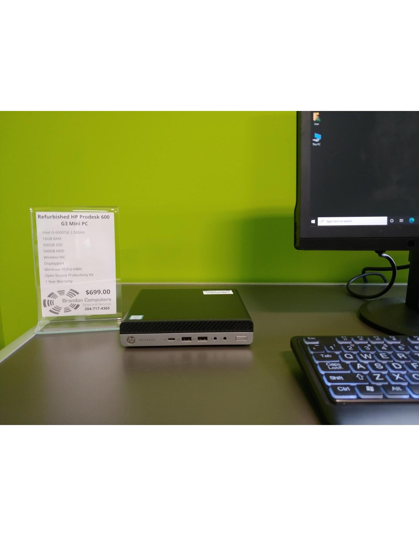HP Refurbished HP Prodesk 600 G3 Mini PC