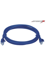 50Ft RJ45 Cat6 550MHZ Blue Molded Patch Cable, Male to Male