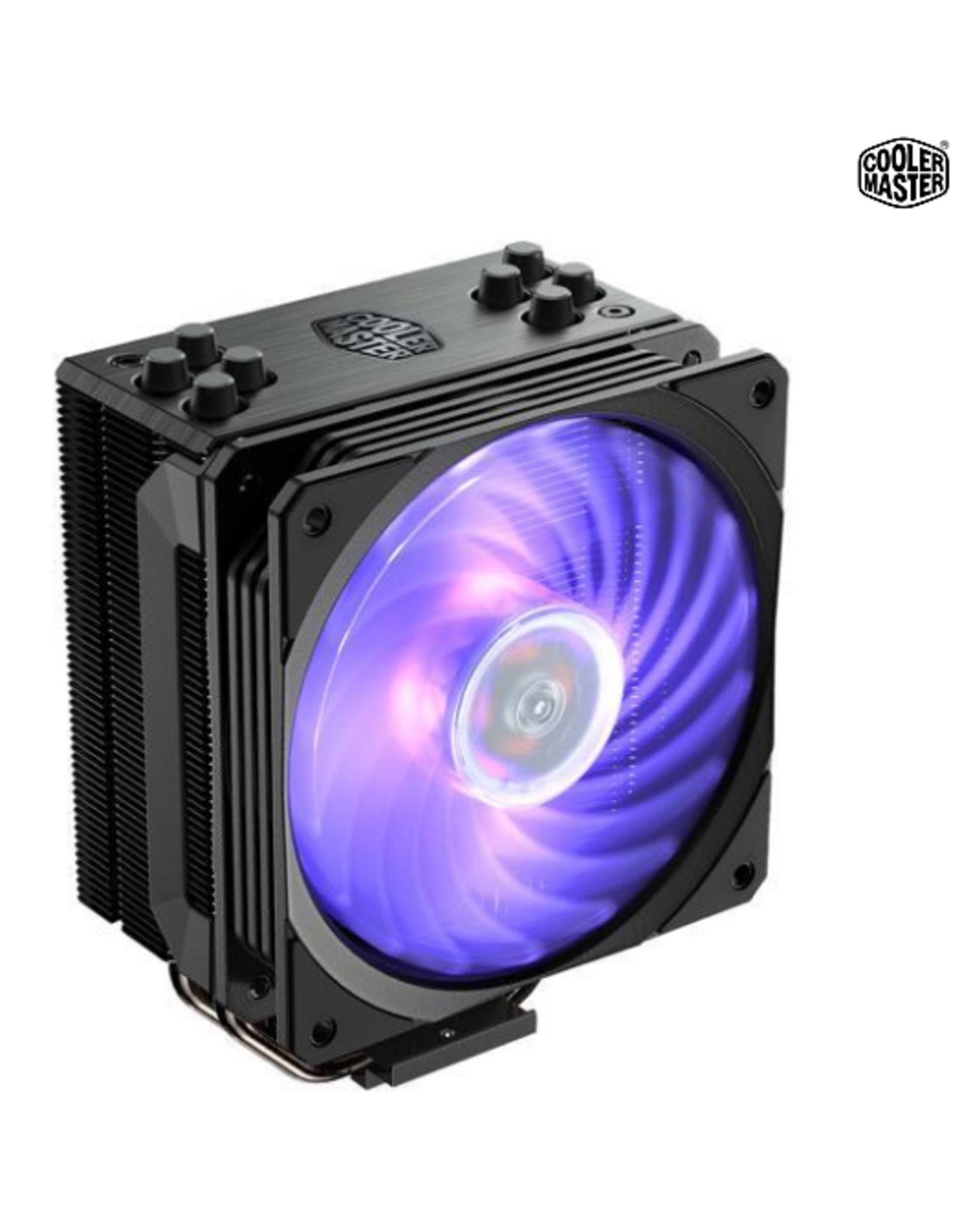 CoolerMaster Cooler Master Hyper 212 RGB Black Edition CPU Air Cooler, 4 Direct Contact Heatpipes, 120mm RGB Fan