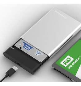 "Portable Aluminum 2.5"" HDD Enclosure USB3.0 to SATA Hard Disk Drive Case"