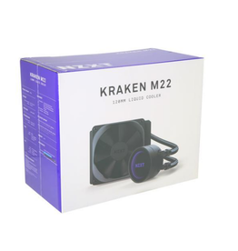 NZXT Kraken M22 120mm - All-In-One RGB CPU Liquid Cooler - CAM-Powered - Infinity Mirror Design - Reinforced Extended Tubing - Aer P120mm PWM Radiator Fan (Included)