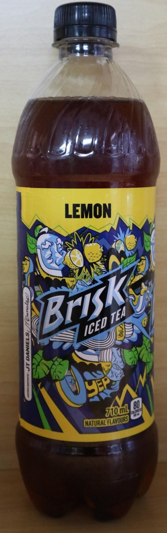 Brisk Brisk - Lemon Iced Tea - 710mL bottle