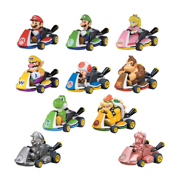 Tomy Tomy - Mario Kart Pull Back Racers - Gacha Ball Blind Box