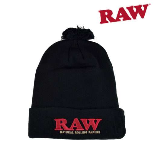 RAW Raw - Pompom Beanie - Black
