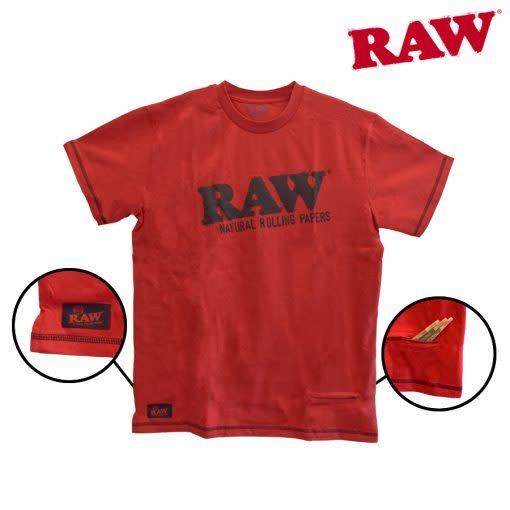 RAW RAW - Stash Pocket Tee (Red)
