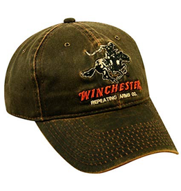 OUTDOOR CAP WINCHESTER HORSE & RIDER WEATHERED HAT