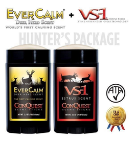 CONQUEST SCENTS CONQUEST SCENTS HUNTERS VS-1 & EVERCALM DEER HERD SCENT