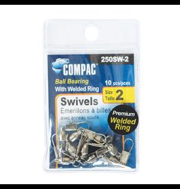 COMPAC COMPAC NICKEL WELDED BALL BEARING SWIVELS #1 10PK