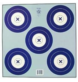 "Maple Press Inc. NFI-2P 5-SPOT 16cm BLUE TARGET FACE 17""x17"""