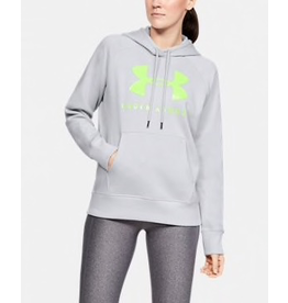 UNDER ARMOUR WOMENS RIVAL FLEECE SPORTSTYLE GRAPHIC HOODIE