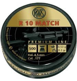 RWS RWS R10 MATCH .177 CAL 8.2 GR 500 CT