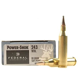 Federal FEDERAL 243 WIN 80GR POWER SHOK SP