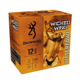 """BROWNING BROWNING WICKED WING 12GA 3"""" - 1 1/4 OZ #2 - 25 RDS"""