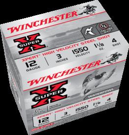 """WINCHESTER WINCHESTER SUPER-X STEEL 12GA 3"""" 1.1/8OZ #4 25 RDS"""