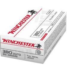 WINCHESTER WINCHESTER 380 AUTO 95GR FULL METAL JACKET 50 RDS