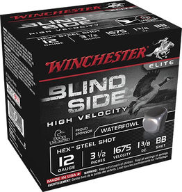 "WINCHESTER WINCHESTER BLIND SIDE 12 GA 3.5"" #BB 1 3/8 OZ 25 RDS"