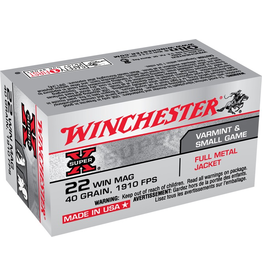 WINCHESTER WINCHESTER SUPER-X 22 WIN MAG 40GR FMJ 50 RDS