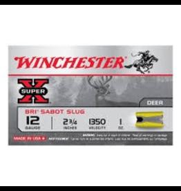 "WINCHESTER WINCHESTER SUPER-X 12GA BRI SABOT SLUG 2 3/4"" 1 OZ 5 RDS"