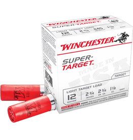 "WINCHESTER WINCHESTER SUPER TARGET 12 GA 2 3/4"" 1 1/8OZ #9 25 RDS"