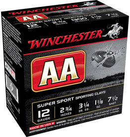 "WINCHESTER WINCHESTER AA SUPER SPORT SPORTING CLAYS 12GA 2 3/4"" 7.5 SHOT 25 RDS"