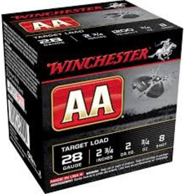 """WINCHESTER WINCHESTER AA 28GA 2 3/4"""" 25 RDS"""